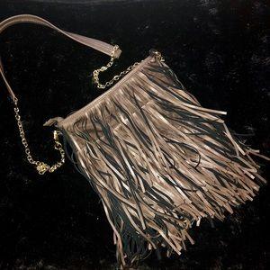 Steve Madden fringe chain shoulder handbag